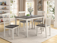 5 pc. Two-Toned Leg Table Dining Set - FREE SHIPPING - Weekly Special