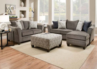Ash Gray Sofa Chaise and Loveseat FREE SHIPPING