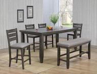 6 pc. Grey Leg Counter Height Table Set - FREE SHIPPING - Weekly Special