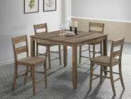 Brown Square Counter Height Table Set - FREE SHIPPING