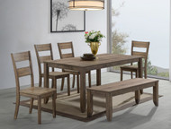 6 pc. Brown Leg Dining Set Table - FREE SHIPPING - Weekly Special