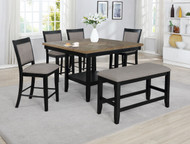 6 pc. Black Square Dining Set - FREE SHIPPING - Weekly Special