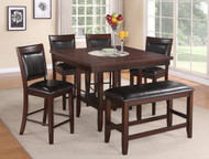 6 pc. Espresso Square Dining Set - FREE SHIPPING - Weekly Special
