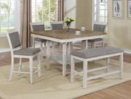 6 pc. White Square Dining Set - FREE SHIPPING - Weekly Special