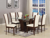 7pc. White Glass Dining Table Set - FREE SHIPPING - Weekly Special