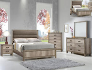 Hickory Upholstered Bedroom Set - FREE SHIPPING