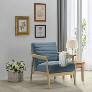 Amare Channeled Back Wood Frame Chair - FREE SHIPPING