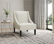 Stephanie Light Grey Accent Chair - FREE SHIPPING