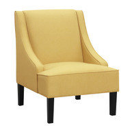 Stephanie Pastel Yellow Accent Chair - FREE SHIPPING