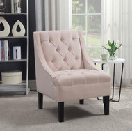 Stephanie Blush Tufted Arm Chair - FREE SHIPPING