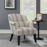 Ernestine Black Uph Arm Chair - FREE SHIPPING