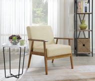 Phillips Beige Wood Frame Chair - FREE SHIPPING