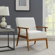 Phillips White Wood Frame Chair - FREE SHIPPING