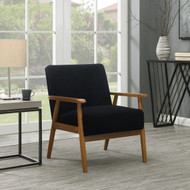 Phillips Black Wood Frame Chair - FREE SHIPPING