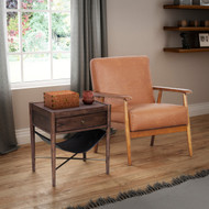 Phillips Brown Wood Frame Chair - FREE SHIPPING