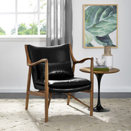 Dockery Black Leather Accent Chair - FREE SHIPPING