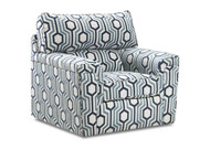 Bowles Blue Accent Swivel Chair - FREE SHIPPING
