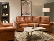 Three Piece Caramel Sectional - FREE SHIPPING