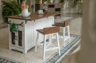 Blanco Kitchen Island - FREE SHIPPING