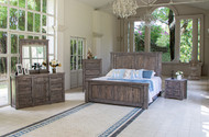 Gray Pine Bedroom Set - FREE SHIPPING