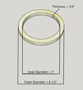 """8"""" Birch Wood Speaker Ring Pair for Fiberglass Speaker Pod / Pods"""