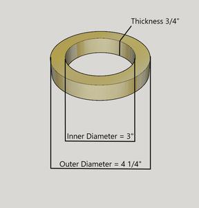"""4"""" Birch Wood Speaker Ring Pair for Fiberglass Speaker Pod / Pods"""