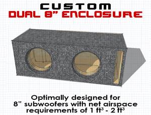 "Dual 8"" Subwoofer Box"