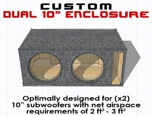 "Dual 10"" Subwoofer Box"
