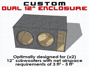 "Dual 12"" Subwoofer Box"