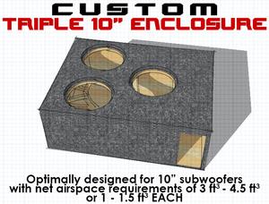 "Triple 10"" Subwoofer Box"