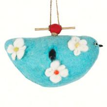 Bluebird Felt Birdhouse