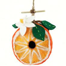Orange Felt Birdhouse