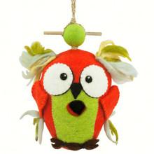 Crazy Owl Felt Birdhouse
