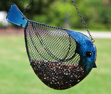 Bird, Metal and Glass Bird Feeder