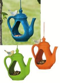 Tea Pot Birdfeeder 3 asst