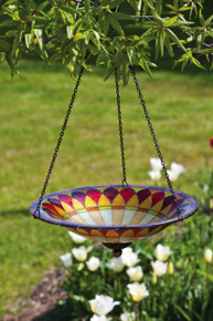 Tiffany Hanging Glass Birdbath