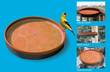 3-In-1 Heated Birdbath Terra Cotta/Black
