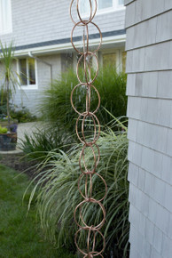 Double Link Rain Chain Copper