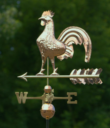 Rooster Weathervane Polished Copper + FRT