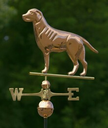 Labrador Retriever Weathervane Polished Copper + FRT