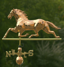 Horse Weathervane Polished Copper + FRT