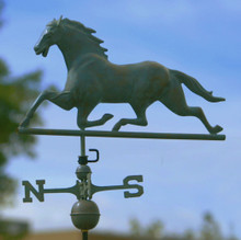 Horse Weathervane Blue Verde Copper + FRT