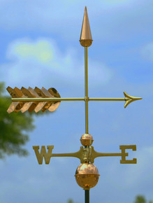 Arrow Weathervane Polished Copper + FRT