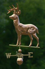 Deer Weathervane Polished Copper + FRT