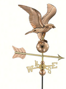 Eagle Polished Copper Garden Weathervane