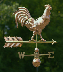 Smithsonian Rooster Weathervane Polished Copper + FRT