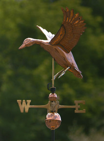 Landing Duck Weathervane Polished Copper + FRT