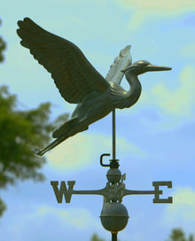 Blue Heron Weathervane Blue Verde Copper + FRT