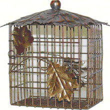 Decorative Leaf Double Suet Basket