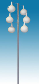 13.5 ft. Alum. Pole Kit for Gourd shaped Starling Resistant birdhouses 6 Piece
